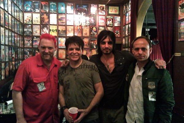 Pictured Left to Right: Mitch Thomas of Soundtoys, Gary Numan, Ade Fenton, Ken Bogdanowicz, Soundtoys founder and owner.